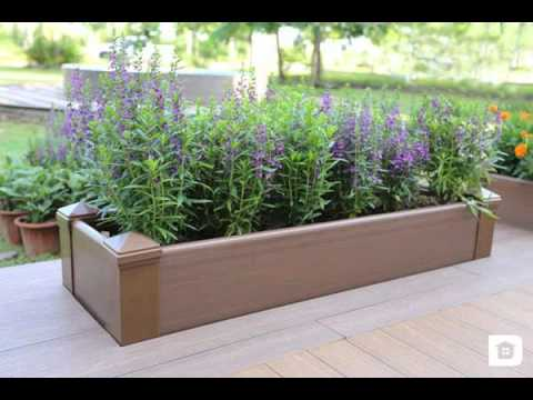 Using Composite Decking For Planting Boxes Youtube