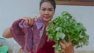 Cooking Technique: Cooking Yummy Beef with Shiny Leave Recipes Eating Delicious for Dinner