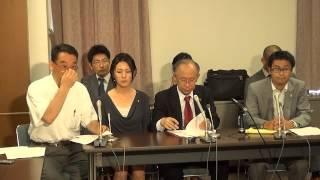 120802 官邸前抗議行動の過剰警備に抗議する弁護士の声明に関する記者会見