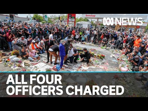 All four police officers charged over death of George Floyd, troops in Washington | ABC News