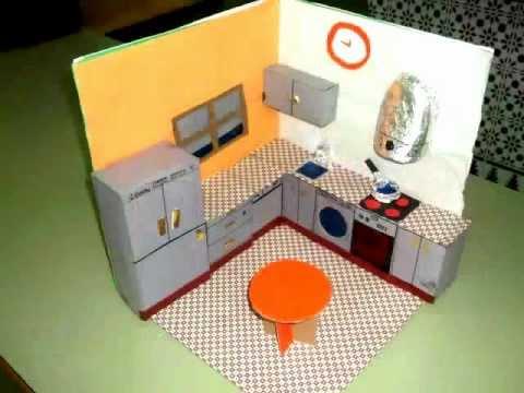 Proyectos de maquetas de cocina youtube for Cocinas armables