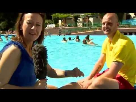 Droitwich Lido on BBC Midlands Today