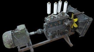 Compressor from LADA 2016 engine for a sandblaster