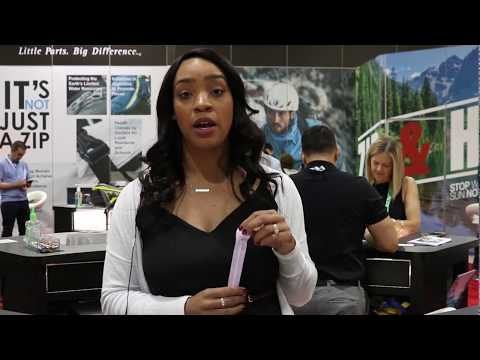 Natalia Alicea introduces YKK's METALUXE® at the Outdoor Retailer Show