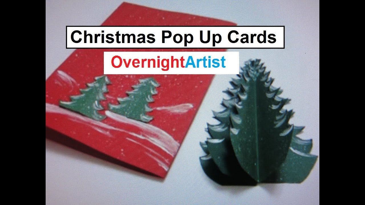 Christmas crafts pop up card christmas tree craft for Christmas card christmas tree craft
