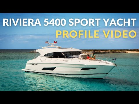 Riviera 5400 Sport Yacht New Video