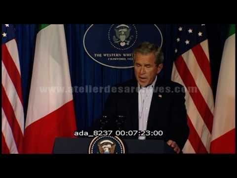 Conférence de presse Bush - Berlusconi - Juillet 2003
