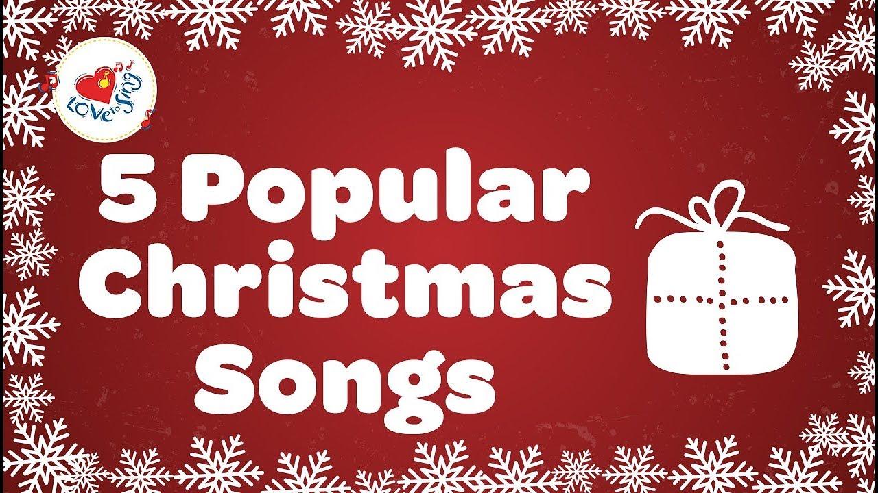 Top 5 Christmas Songs And Carols With Lyrics 2019 Youtube