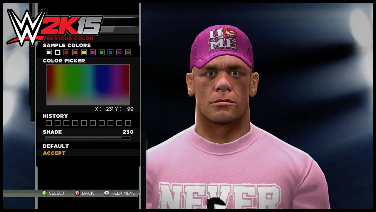 65d55ce367d WWE 2K15 Superstar Threads John Cena Rise Above Cancer 2013 Attire ...