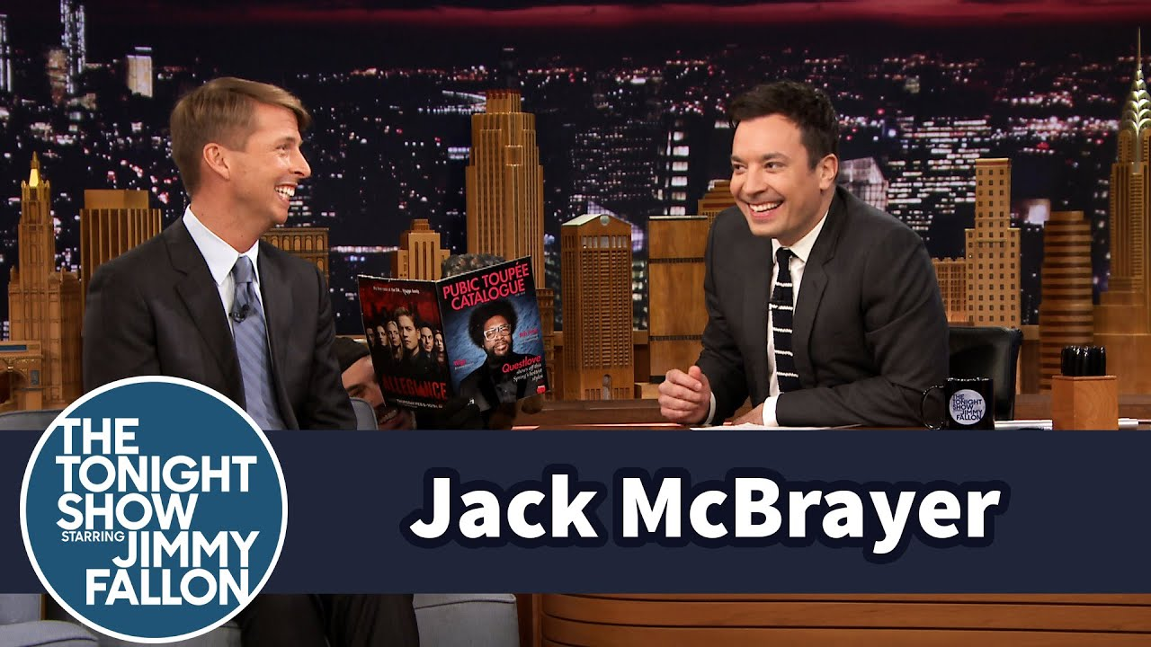 jack mcbrayer struggles to talk over triumph's quiet reading - youtube