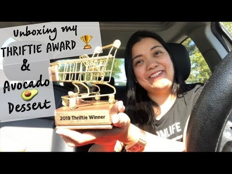 unboxing-my-thriftie-award-trophy-|-low-carb-avocado-dessert