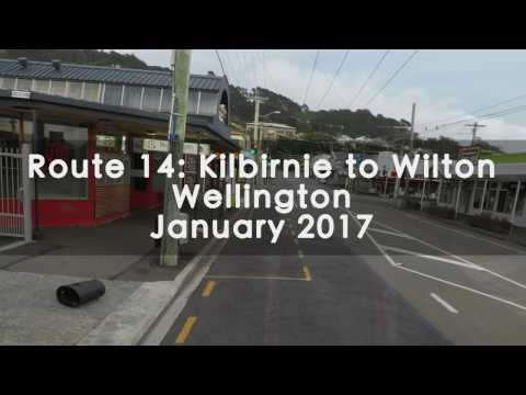14 Bus Route From Kilbirnie To Wilton, Wellington - Timelapse