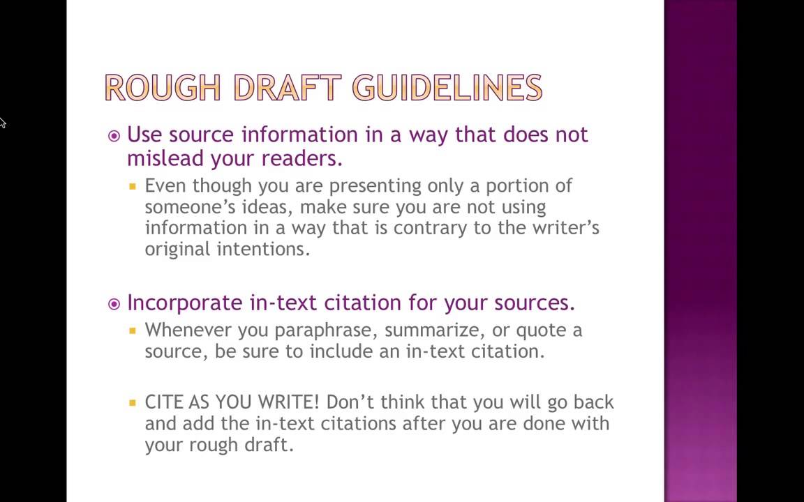how to make a rough draft