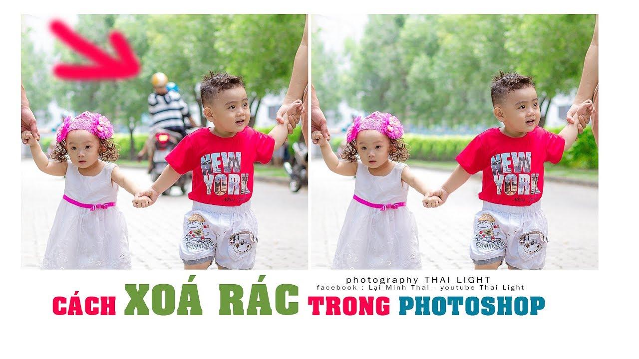 Cách xoá vật thể trong photoshop cc2017 | Thai Light Photography