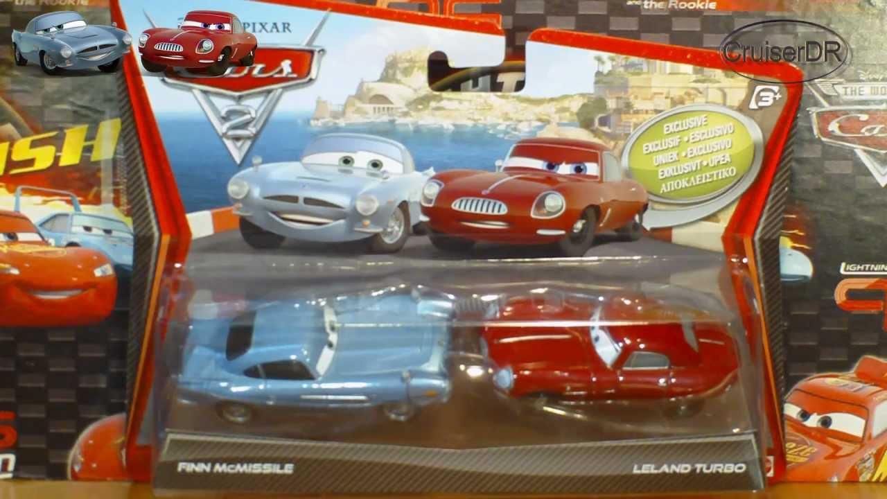 Disney Pixar Cars2 2 Pack Finn Mcmissile Amp Leland Turbo