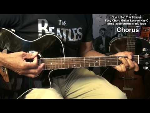 LET IT BE Beatles Guitar Lesson How To Play Chord Melody EEMusicLIVE