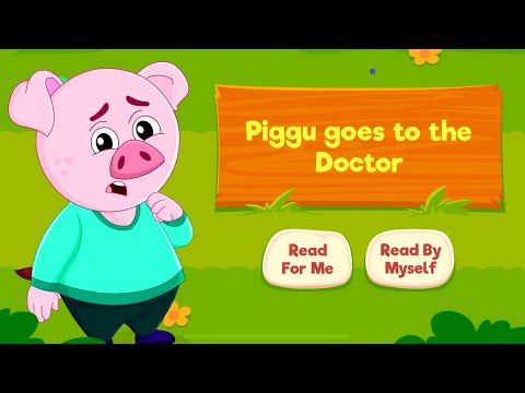 Piggu goes to the doctor story for kids in English 🐷🐖
