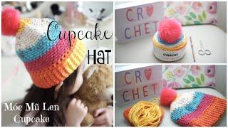 Cách Móc Mũ Len Đơn Giản Chỉ Trong 1 Giờ ❄︎ How To Crochet Winter Hat | mattalehang