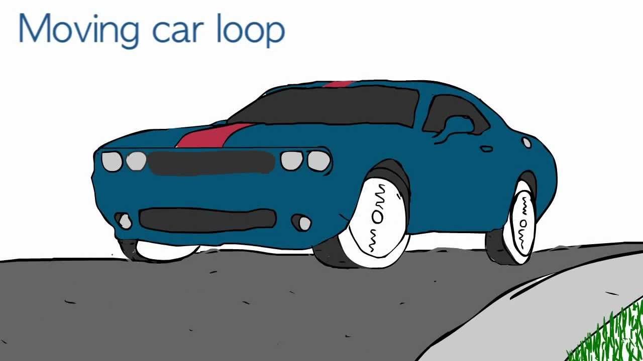Moving Car Loop Animation Youtube