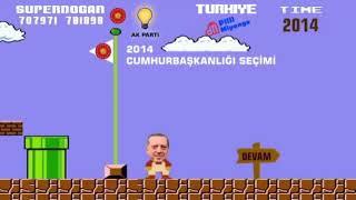 Erdoğan için yapılan 24 Haziran seçimi mario oyunu reklamı izleyenleri güldürdü :)