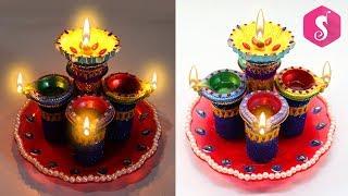 Diya Stand from Medicine Bottles | Diwali Craft idea | Sonali