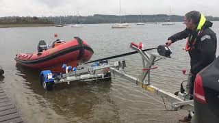 Recovering a Humber RIB using a PDMS trailer