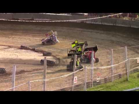 Old Bradford Speedway NY6A Micro Sprint Heat Races 8-6-17