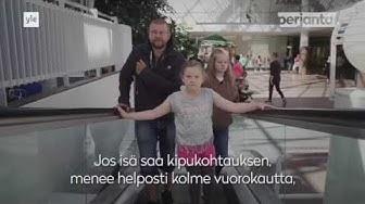 PERJANTAI: Älä töni! Lapset suojelevat kroonista kipuoireyhtymää sairastavaa isäänsä kaupungilla