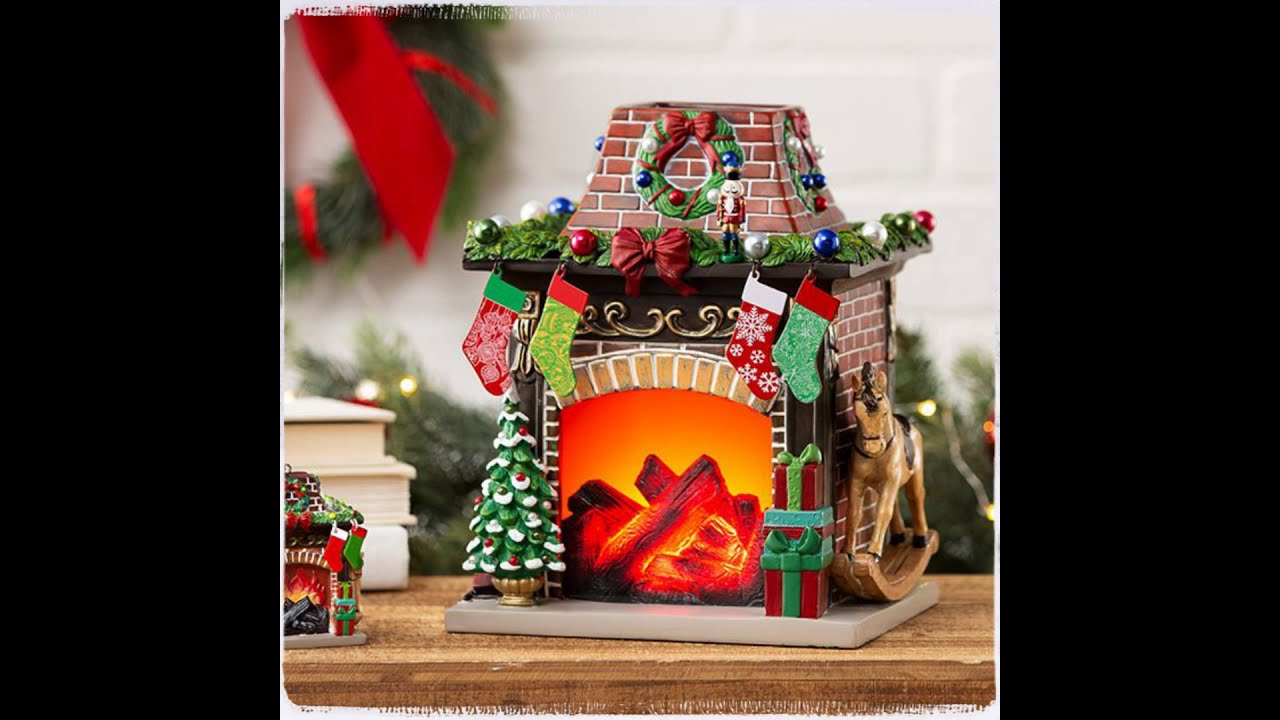 Scentsy Christmas Warmers 2021 Scentsy Holiday Hearth Fireplace Warmer Limited Edition Holiday Shop 11 16 Youtube