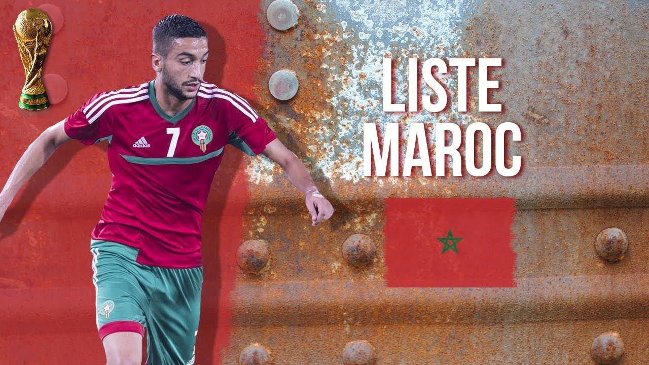 Liste des 23 joueurs du Maroc pour la Coupe du Monde 2018