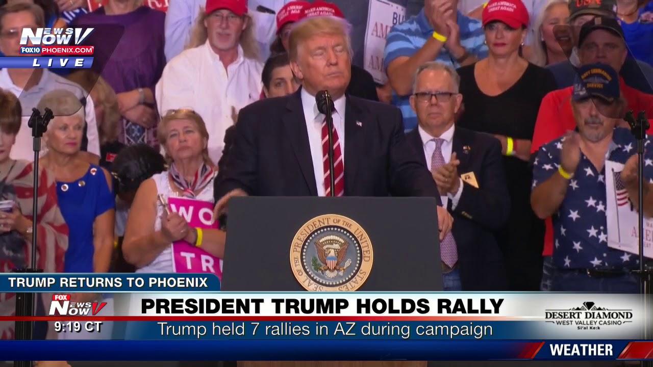 FULL SPEECH - PHOENIX RALLY: Trump Defends Charlottesville Remarks, Bashes Media, Talks Arpaio (FNN)