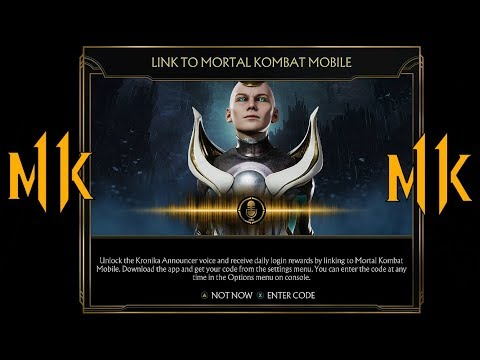 Mortal Kombat 11 - How To Unlock Kronika Announcer Voice FREE Linking To  Mobile