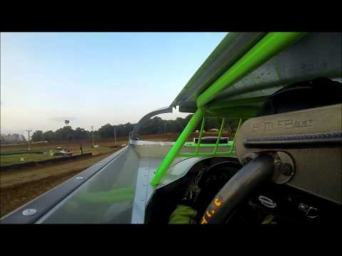 JOSH JACKSON RACING SPOON RIVER SPEEDWAY 2ND QUICK QUALIFYING IN CAR CAMERA 8 18 18