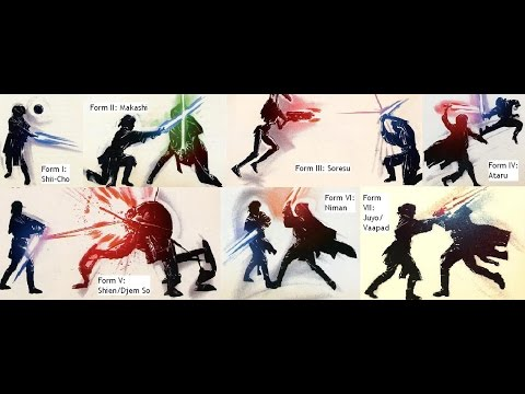 The 7 Main Lightsaber forms - YouTube