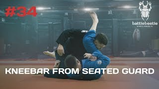 KNEEBAR FROM SEATED GUARD. SAMBO FOR BJJ - BATTLE BEETLE TUTORIAL #34
