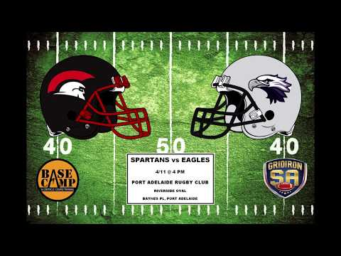 Gridiron SA 2017 Round 9 - Port Adelaide Spartans vs UNI SA Eagles