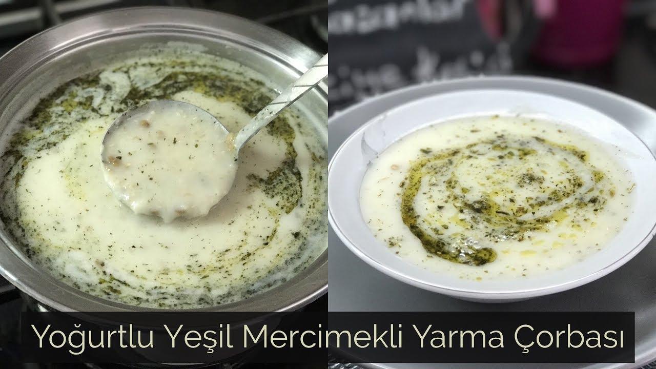 Yeşil Mercimekli Yoğurt Çorbası Tarifi
