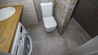 Важные решения при объединении ванной комнаты и туалета. Обзор выполненной работы по совмещению.