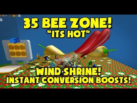 WIND SHRINE - 35 BEE ZONE - Bee Swarm Simulator