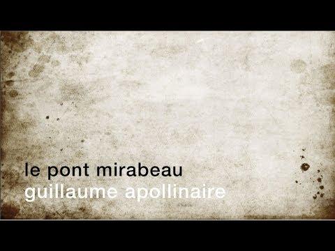 La minute de poésie : Le Pont Mirabeau [Guillaume Apollinaire]