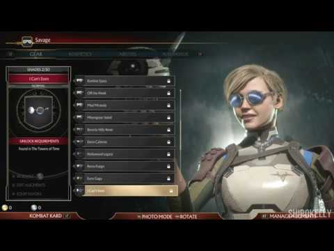 Mortal Kombat 11 : Cassie Cage Character Customization / All Outfits & Gear