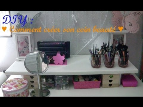 diy comment cr er son propre coin beaut youtube. Black Bedroom Furniture Sets. Home Design Ideas