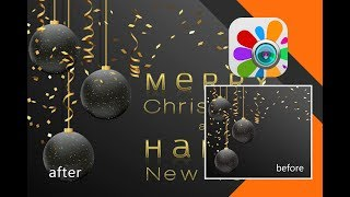 How make Mirror text effect in Photo Studio   Text Editor   Text App   Tutorial