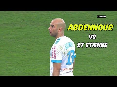 AYMEN ABDENNOUR individual highlights (Marseille vs St Etienne) 10/12/2017