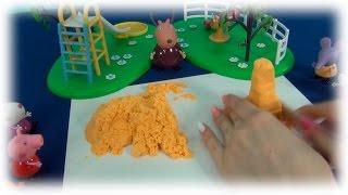 Свинка Пеппа. У Пеппы вместо уроков день творчества. Пеппа с друзьями играют в песочнице