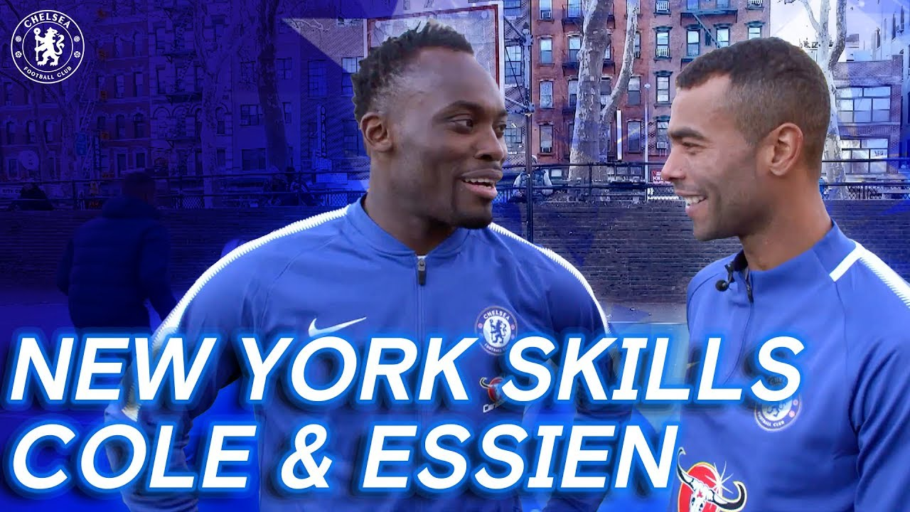 Ashley Cole & Michael Essien Take On The New York City Skill Challenge | From The Vaults