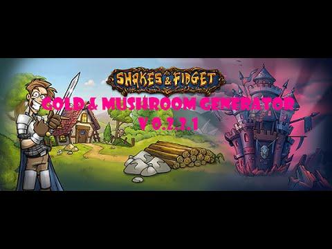Shakes & Fidget Mushroom/Gold Generator NEW///Win7, 8.1