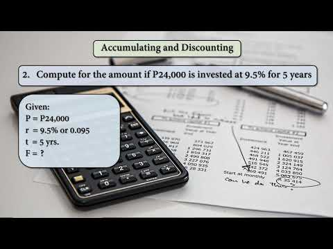 Mathematics of Investment - Simple Interest - Accumulating and Discounting (Topic 3)