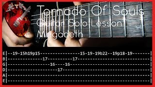 Tornado Of Souls Guitar Solo Lesson - Megadeth  (with tabs)