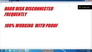 Hard Disk Disconnected Frequently After Few Minutes - 100% Working with Proof
